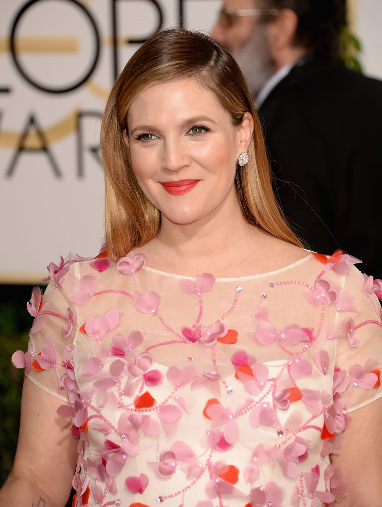 Drew Barrymore always gives good face, thanks in large part to years ... Drew Barrymore